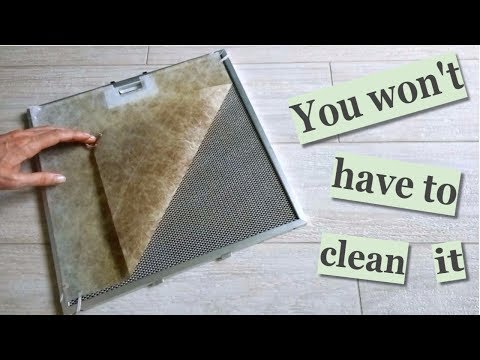 How to make Extra Filter for Range Hood Filter. You won't have to clean it!