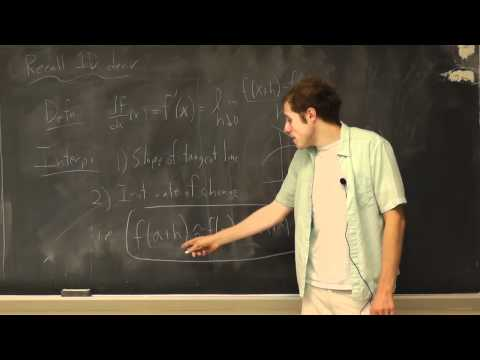 Multivariable Calculus: Lecture 9 - Partial Derivatives
