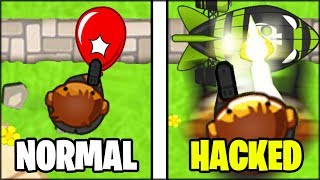 NORMAL :: VS :: HACKED COBRA TOWER (MACHINE GUN MONKEY IN BLOONS TD BATTLES)