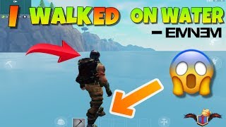 I STOOD ABOVE THE OCEAN!!! | WEIRD FORTNITE GLITCH