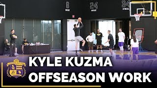 Kyle Kuzma Putting In Work During The Lakers Offseason