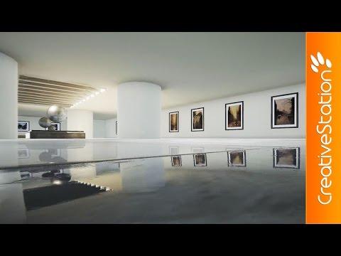 Gallery interior - 3D Speed art (#3DSMax, #UnrealEngine) | CreativeStation