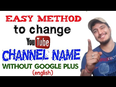 how to change youtube channel name before 90 days without google plus [english]