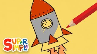 How To Draw And Color A Rocket | + More Drawing For Kids | Watch & Learn