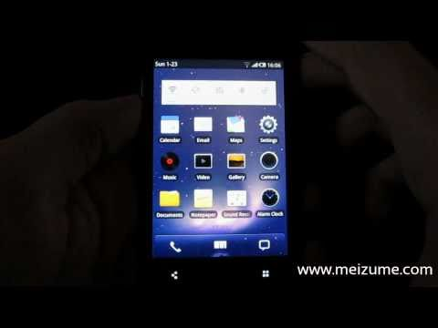 Meizu M9 - English UI overview