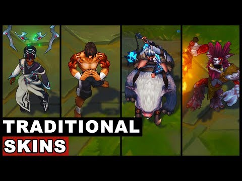 All Traditional Skins Spotlight Trundle Sejuani Lee Sin Karma (League of Legends)