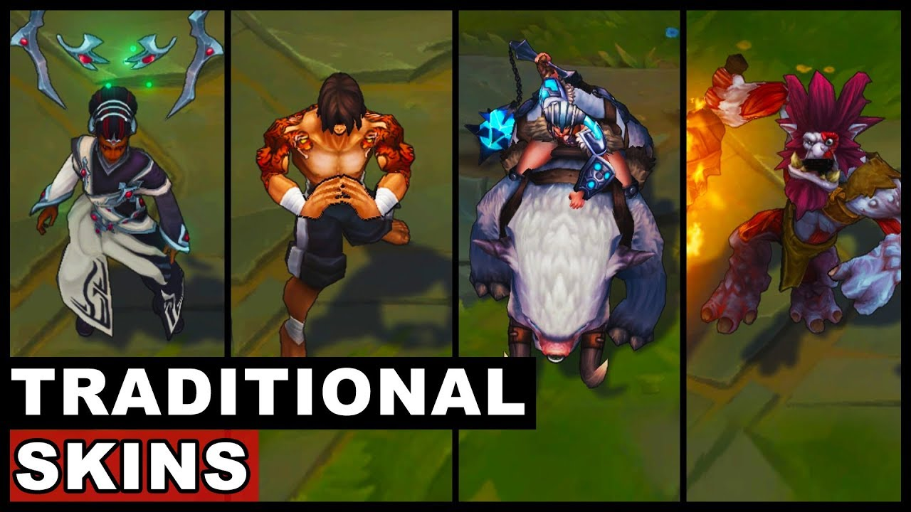 All Traditional Skins Spotlight Trundle Sejuani Lee Sin Karma