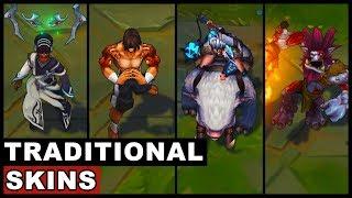 All Traditional Skins Spotlight Trundle Sejuani Lee Sin Karma (League of Legends)