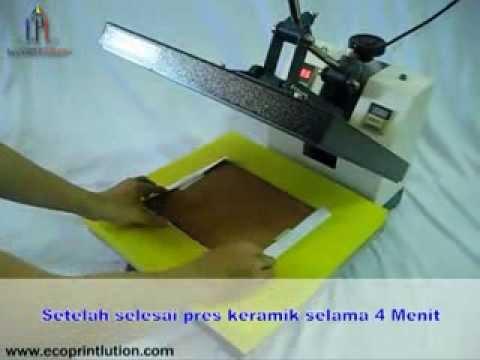 Cara Mencetak Gambar Pada Keramik