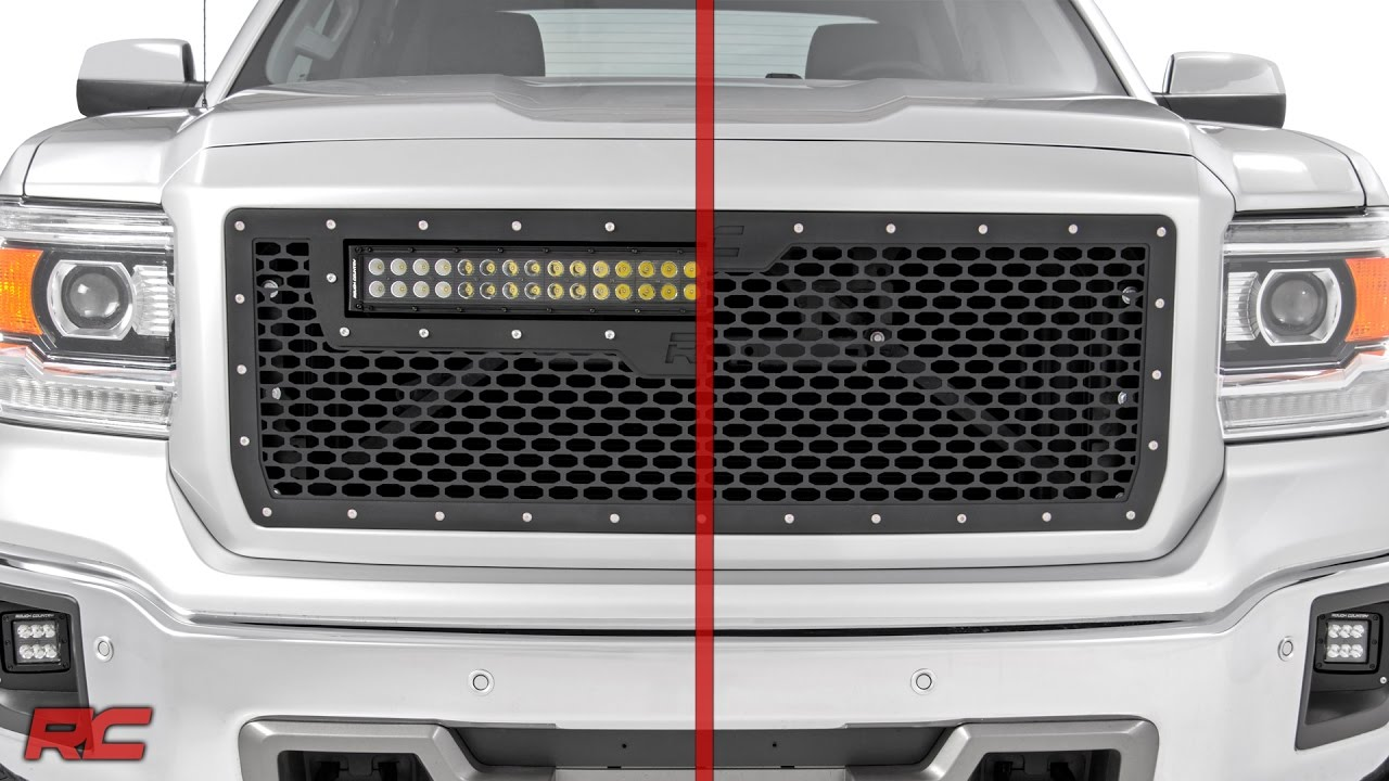 2014 2015 Gmc Sierra 1500 Mesh Grille By Rough Country