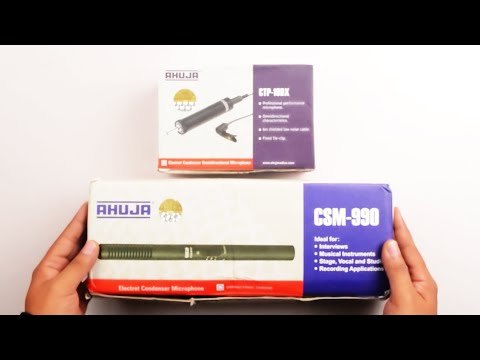 Unboxing & Overview For The Ahuja CSM 990 & CTP 10DX Budget Microphone India