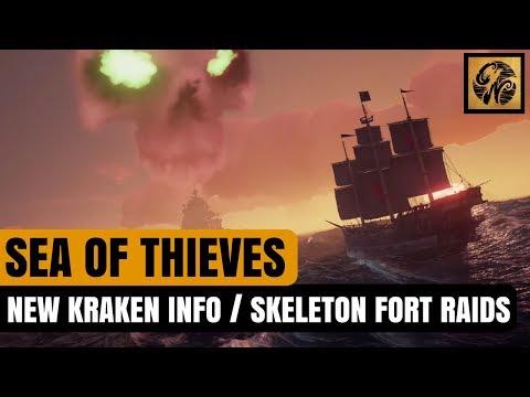 Sea of Thieves News - NEW Kraken Info / Skeleton Fort RAIDS! #SeaofThieves