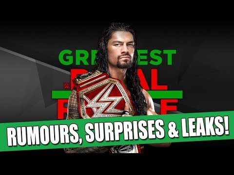 10 BIGGEST WWE Greatest Royal Rumble RUMOURS, SURPRISES & LEAKS!