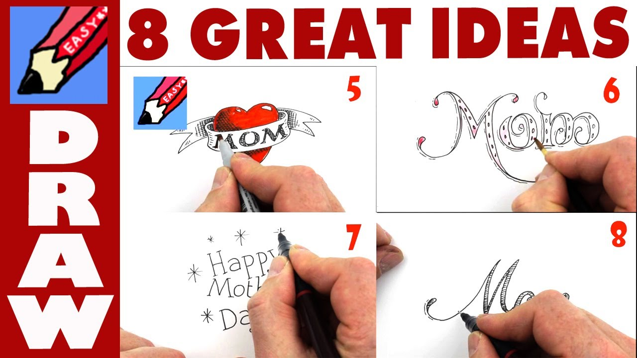 8 Great Ideas For Mothers Day Cards Youtube