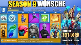 Season 9 BATTLE PASS Skins and Items WÜNSCHE | Fortnite Season 9 German German