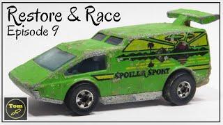 Restore and Race ✔ S01E09 Hot Wheels Spoiler Sport Heavy Metal (Lead)