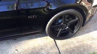 review of the power stop z23 evolution brake pads and rotors on a 2013 mustang gt
