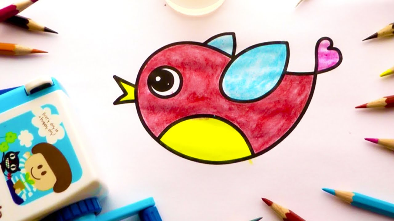 Bird Coloring Book and Drawing. Videos for Kids Learning ...