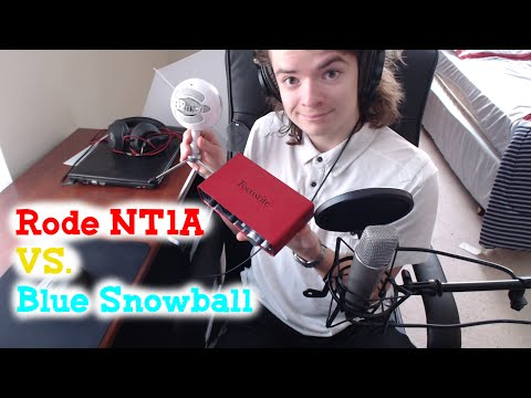 Rode NT1A vs Blue Snowball Microphone (Audio test & Review)
