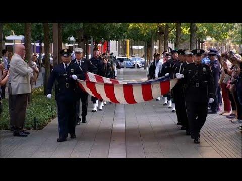 11 Eylül saldırılarında ölenler New York Dünya Ticaret Merkezi önünde anıldı