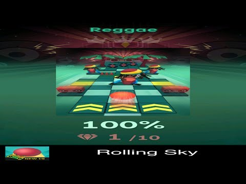 Rolling Sky Level 19 - Reggae - Completed - Easy Way