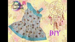 DIY: Платье для  девочки на одно плечо  / One-shoulder dress  for girl