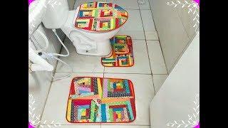Como fazer jogo para banheiro reaproveitando os tecidos bloco crazy