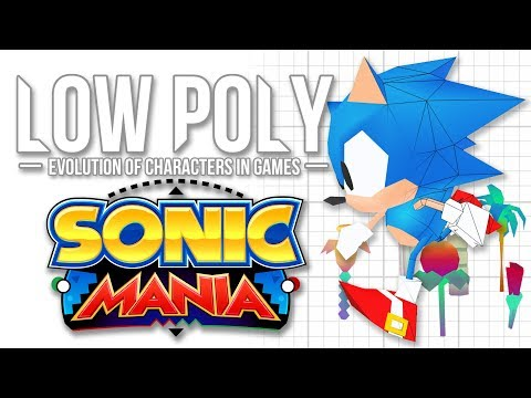 Sonic Mania Models - Low Poly (Evolution of Characters in Games) - Episode 4