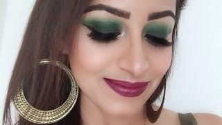 Easy Green Smokey Eyes Makeup Tutorial (HINDI)   Deepti Ghai Sharma