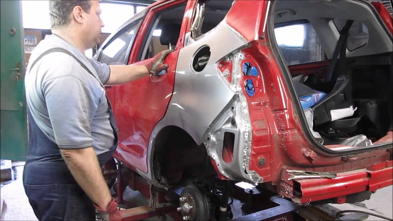 Autobody Repair The Rear Fender Replacement Ремонт
