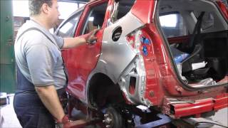 Autobody repair. The rear fender replacement. Ремонт кузова. Замена заднего крыла.