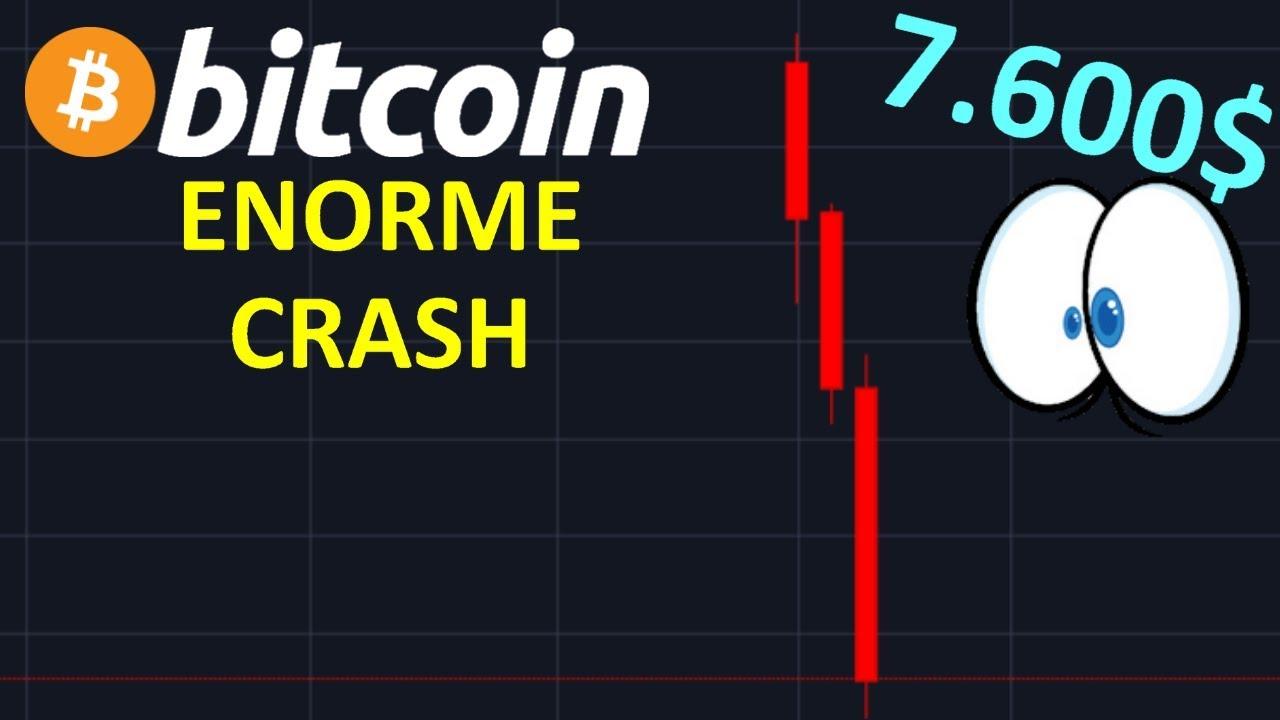 BITCOIN 7600$ CRASH SUPER PUISSANT !? btc analyse technique crypto monnaie