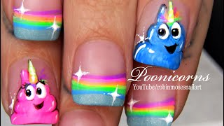 POOnicorn Nails | Magic Rainbow Unicorn Nail Art Design