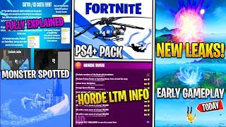 *NEW* Fortnite: Horde Rush LTM LEAKED Gameplay, MONSTER Coming On Island, & PS+ Skin Bundle!