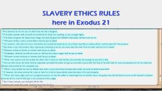 Bible re Slavery, 2
