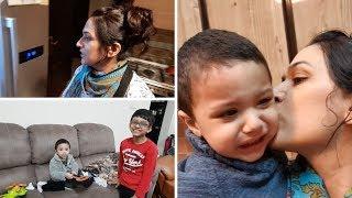 Morning Routine with a Sick Toddler and Exam Prep | Pakistani Mom | Naush Vlogs