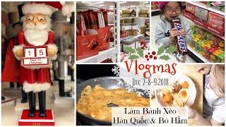 VLOGMAS 7-9,2018 ❅ Cuối Tuần Làm Bánh Xèo Hàn Quốc và Bò Hầm❅ Mở Lịch Đếm Ngược ♥ | mattalehang