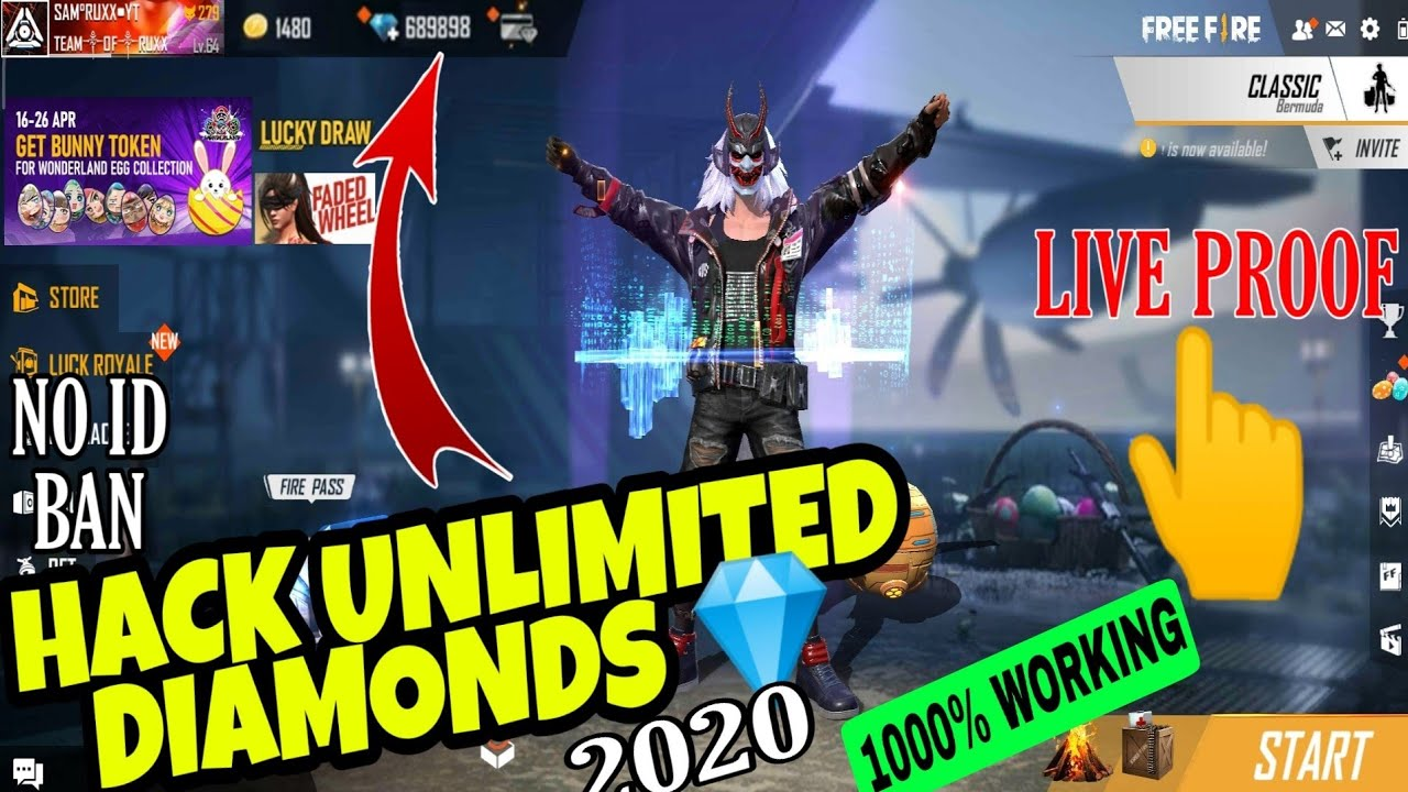 How To Hack Free Fire Unlimited Diamonds 2020 101 Working Trick To Hack Free Fire Diamonds 2020 Youtube