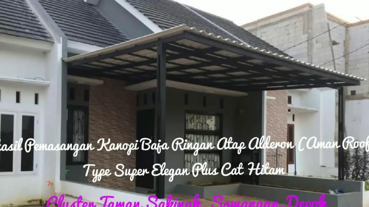 baja ringan vs asbes hasil pemasangan kanopi atap alderon twinwall aman