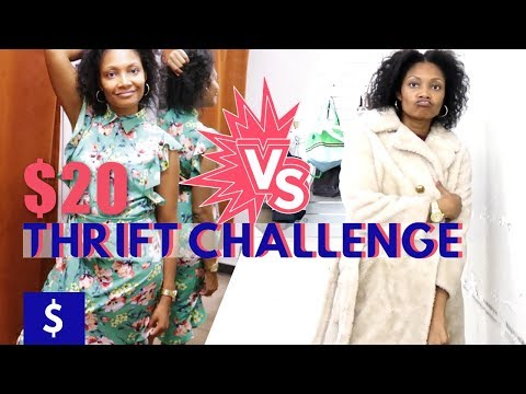 $20 Thrift Store Challenge   OUTLET vs. CONSIGNMENT  BlueprintDIY