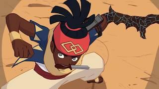 Red Origins Combo Fight Short (Black Anime - Kolanut Productions)