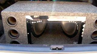 2 12 inch Kenwood Subwoofers in Ported Bandpass Enclosure Hitting Hard
