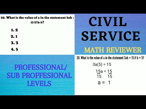 CIVIL SERVICE EXAM  - Math Reviewer ( With Answer)
