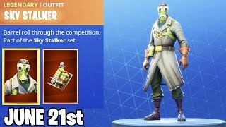 "Fortnite Item Shop June 21st 2018! NEW ""SKY STALKER SKIN"" Item Shop June 21st! Daily Item Shop"