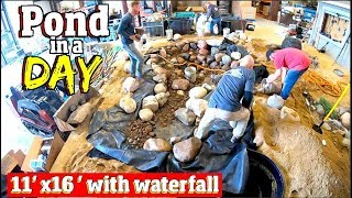 How to install a backyard POND in ONE day  Steps 1-7