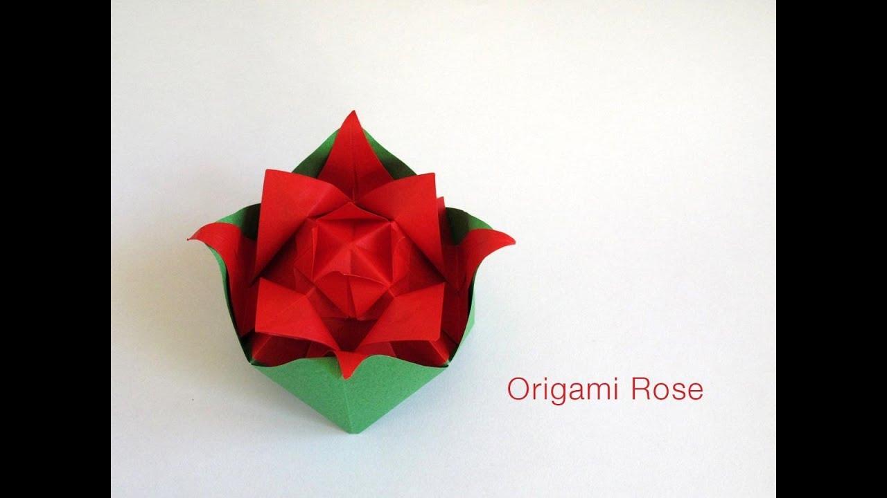 Origami Nested Rose | Doovi - photo#31