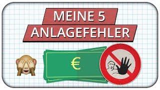 Meine 5 größten Fehler beim Geld anlegen, die mich tausende Euro gekostet haben! ⛔️