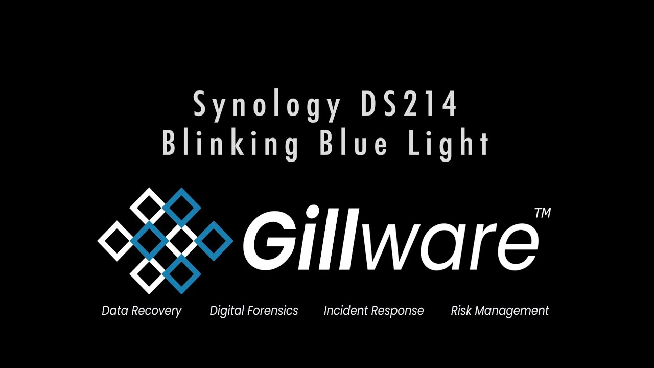 Flashing Blue Power Light - Data Recovery for Synology NAS