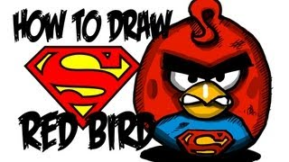 How to draw Super-bird!! by davide ruvolo speedpainter!!