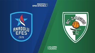 Anadolu Efes Istanbul - Zalgiris Kaunas Highlights | Turkish Airlines EuroLeague, RS Round 24